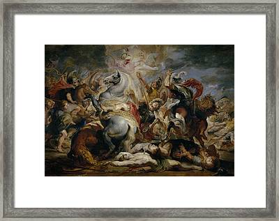 The Death Of Decius Mus Framed Print