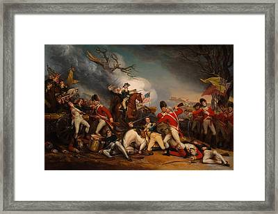 The Death Of General Mercer At The Bottle Of Princeton Framed Print by Mountain Dreams