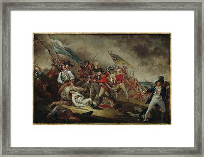 The Death Of General Warren At The Battle Framed Print