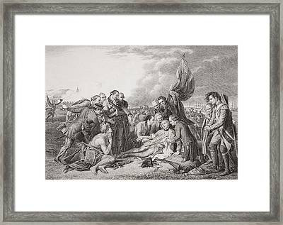 The Death Of General Wolfe On The Framed Print by Vintage Design Pics