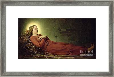 The Death Of Germaine Cousin The Virgin Of Pibrac Framed Print