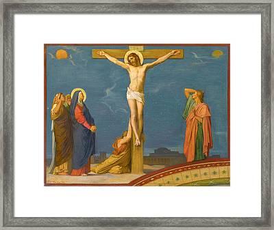The Death Of Jesus Christ On Calvary Framed Print