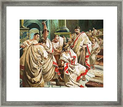 The Death Of Julius Caesar  Framed Print by C L Doughty