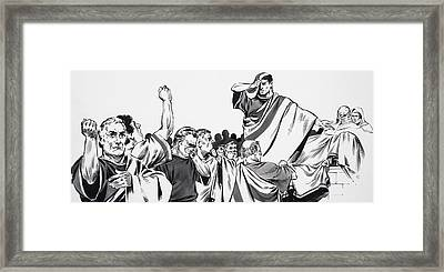 The Death Of Julius Caesar Framed Print