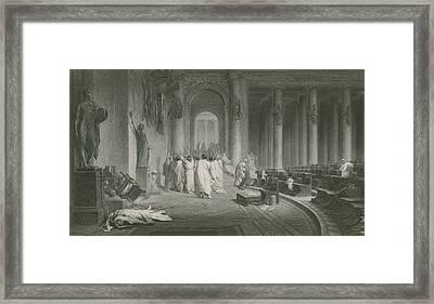 The Death Of Julius Caesar Framed Print