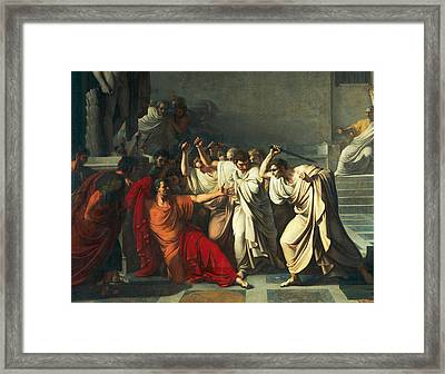 The Death Of Julius Caesar Framed Print by Vincenzo Camuccini