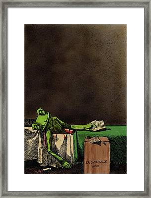 The Death Of La Grenouille Framed Print by Bizarre Bunny