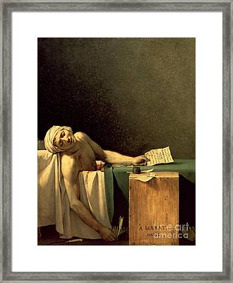 The Death Of Marat Framed Print