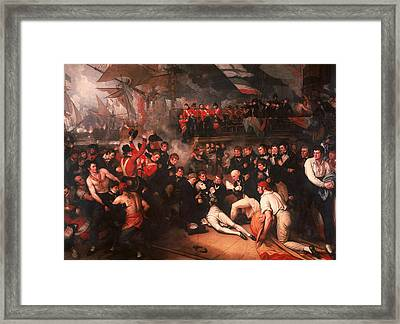 The Death Of Nelson Framed Print by Benjamin West