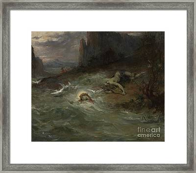 The Death Of Orpheus Framed Print by Henri Leopold Levy
