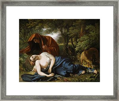 The Death Of Procris Framed Print by Benjamin West
