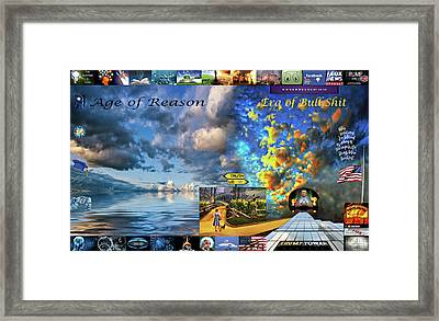 The Death Of Reason - How The Wizard Won Framed Print by Steve Harrington