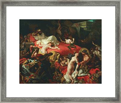 The Death Of Sardanapalus Framed Print by Eugene Delacroix