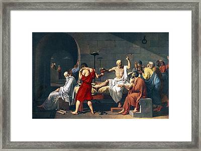 The Death Of Socrates, 1787 Artwork Framed Print by Sheila Terry