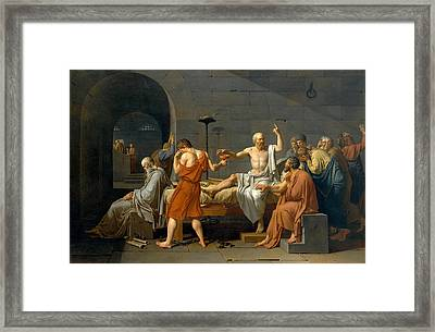 The Death Of Socrates - Jacques-louis David  Framed Print by War Is Hell Store