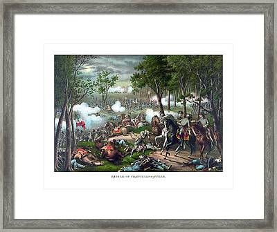 The Death Of Stonewall Jackson Framed Print by War Is Hell Store