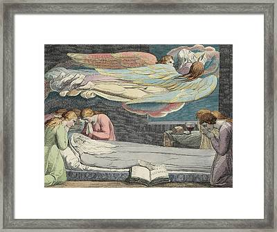 The Death Of The Good Old Man Framed Print by Sir William Blake
