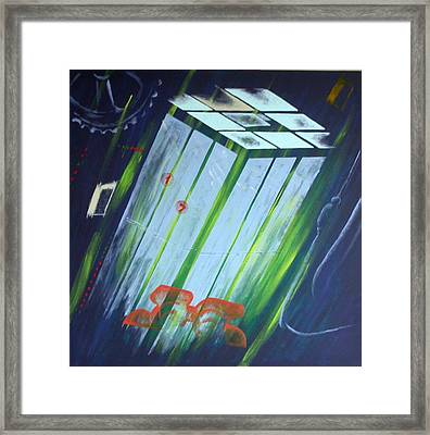The Death Song Of The Elevator Framed Print by Poul Costinsky