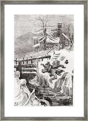 The Death Struggle In The Lock.  Aint I Framed Print by Vintage Design Pics