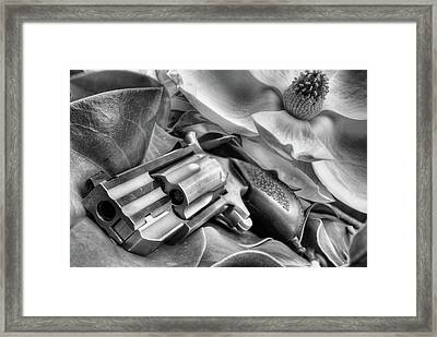 The Debutante Black And White Framed Print