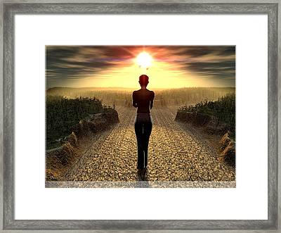 The Decision Point Framed Print