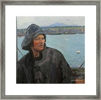 The Deck Hand, North Sea Framed Print