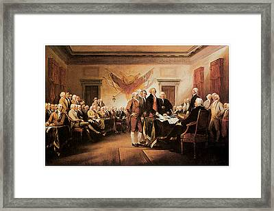 The Declaration Of Independence Framed Print by John Trumbull