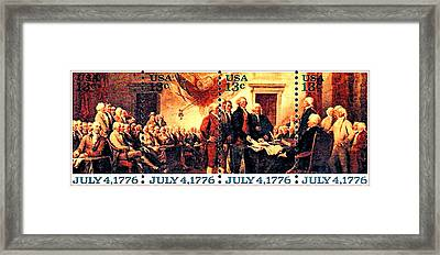 The Declaration Of Independence  Framed Print by Lanjee Chee