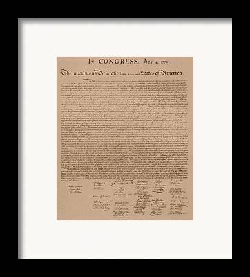 Documents Framed Prints