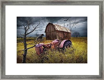 Framed Print featuring the photograph The Decline And Death Of The Small Farm by Randall Nyhof