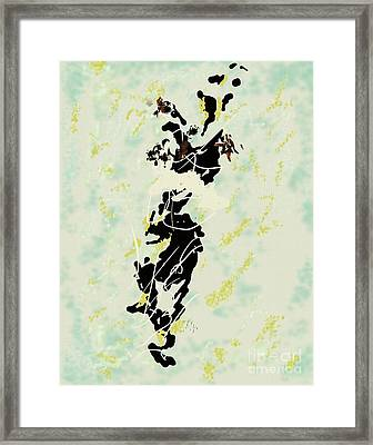 The-deep-1953-jackson-pollock Representation By Louis-art Framed Print by Louis Art