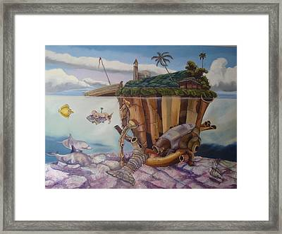 The Deep Framed Print by Carlos Rodriguez Yorde
