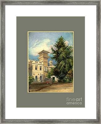 The Deepdene Entrance Court Framed Print by MotionAge Designs