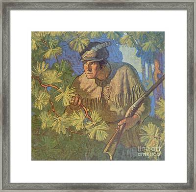 The Deerslayer  Framed Print by Newell Convers Wyeth