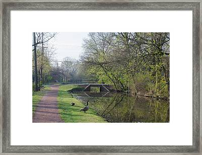 The Delaware Canal - Morrisville Pennsylvania Framed Print by Bill Cannon