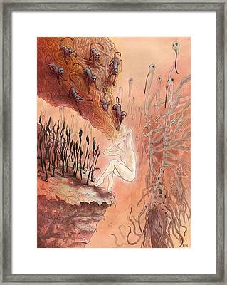 The Deliberate Host  Framed Print by Ethan Harris
