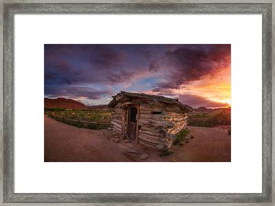 The Delicate Little Cabin Framed Print by Darren  White