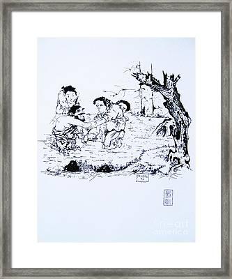 The Demented Woodchopper Framed Print