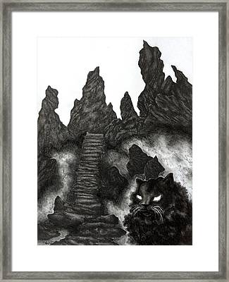 The Demon Cat Framed Print