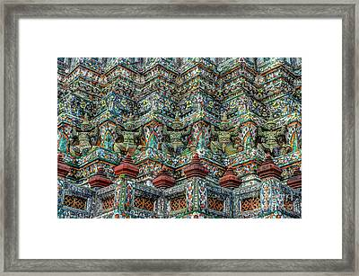 The Demons Of The Temple Framed Print