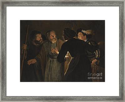 The Denial Of Saint Peter Framed Print by Celestial Images