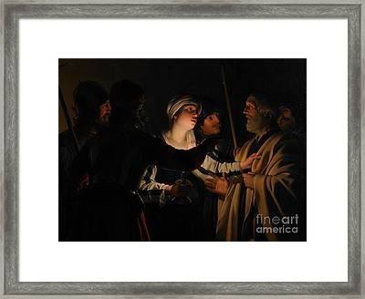 The Denial Of St Peter Framed Print