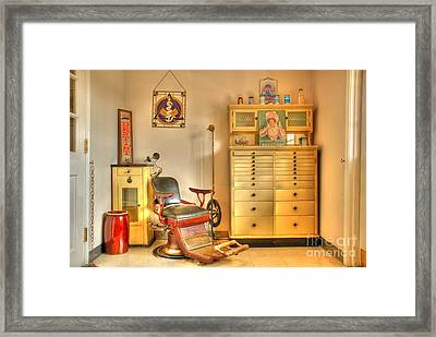 The Dentist Office Framed Print by Tony  Bazidlo