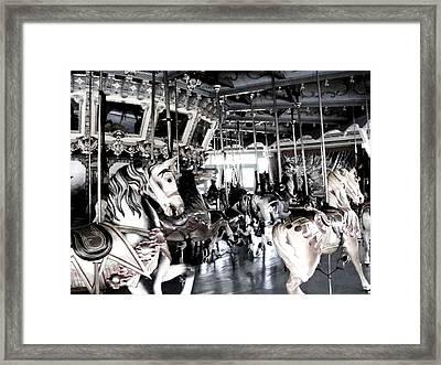 The Dentzel Carousel - Glen Echo Park Framed Print