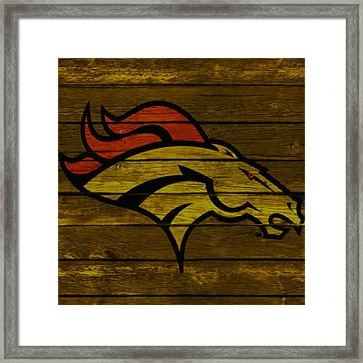 The Denver Broncos 4e Framed Print by Brian Reaves