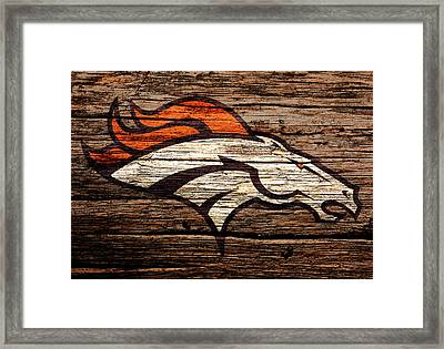 The Denver Broncos 8b Framed Print