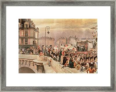 The Departure Of The Volunteers 1792 Framed Print