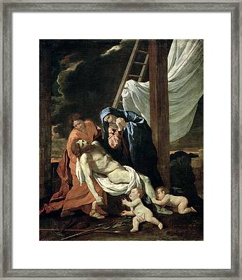 The Deposition Framed Print by Nicolas Poussin
