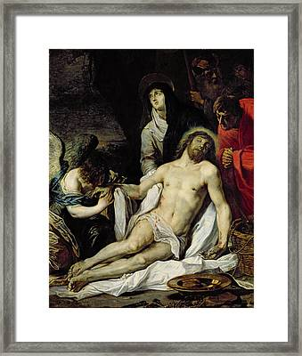 The Deposition Framed Print by Pieter van Mol