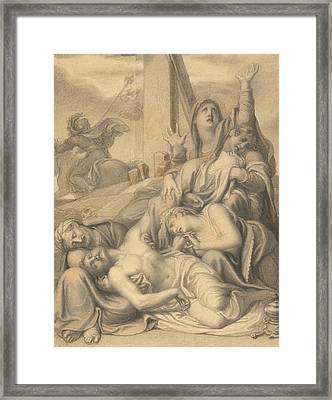 The Deposition Framed Print by Richard Cosway